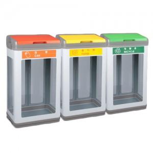 PRT-스틸 샌드 단순형 투명 분리수거함 100L